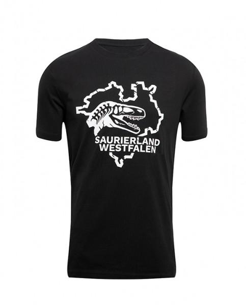 """T-Shirt """"Saurierland Westfalen"""" Schwarz"""